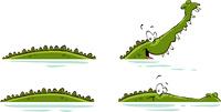 Crocodile on a white background, vector illustration