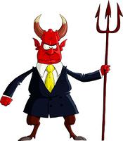 The Devil on a white background, vector illustration