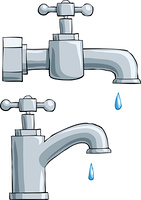Faucet on a white background, vector illustration