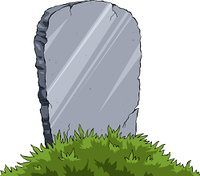 Grave of a white background, vector illustration