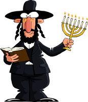 Jew on a white background, vector illustration