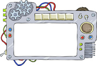 The mechanical frame on a white background, vector