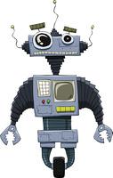 Robot on a white background, vector illustration