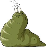 Slug on a white background, vector illustration