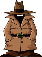 Spy on a white background, vector illustration