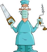 Surgeon on a white background, vector illustration