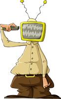 A man with a TV head, vector