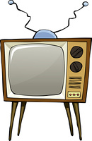 TV on a white background, vector illustration