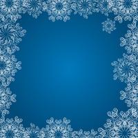 Dark blue background  with white snowflake