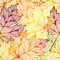 Seamless pattern from  autumn leaves(can be repeated and scaled in any size)
