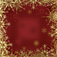 Christmas  background with  gold snowflakes