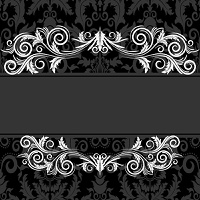 Vintage frame with swirl  on a black background