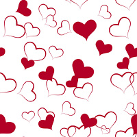 Seamless from hearts(can be repeated and scaled in any size)