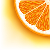 Background of the pieces of orange.
