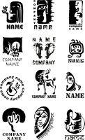 Set of template of logos for design