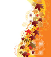 autumn banner with falling leaves