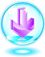 Bubble download icon