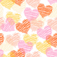 Valentine romantic seamless pattern with the hearts