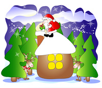 Santa on a roof