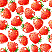 Ripe red strawberry seamless background