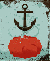 colorful anchor retro background