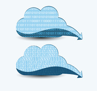 Cloud computing. The concept of storing and transmitting information, media content.
