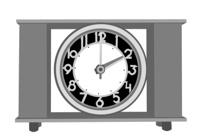 retro alarm clock on white background, vector illustration