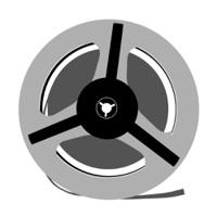 aging tape reel on white background, vector illustration