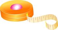 Tape-line cartoon for your design