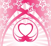 Pink heart background