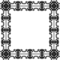 Design floral frame for your design