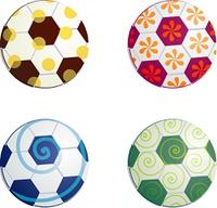 Design football balls symbols