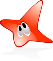 Beauty color star icon
