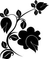 Floral design tattoo