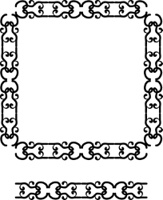 Abstract frame and border