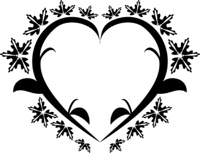 Heart floral tattoo
