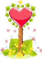 Valentines pointer illustration