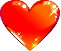 Glass heart icon for your design