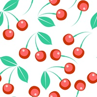 Vector. Seamless berry ornament  in color 273