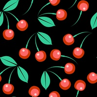 Vector. Seamless berry ornament  in color 274