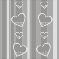 Vector. Seamless ornament with heart in color 421