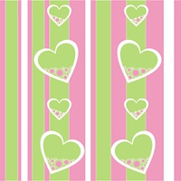 Vector. Seamless ornament with heart in color 422