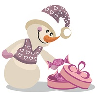 Vector. Snowman in color 16