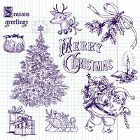Cute Christmas doodles