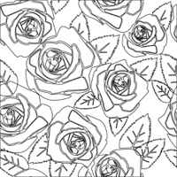 Floral Rose seamless pattern