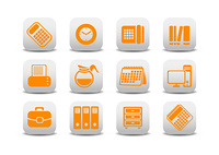 Vector illustration of office equipment icons. You can use it for your website, application or presentation