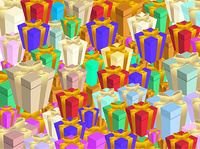 Vector illustration of Colorful gift boxs background