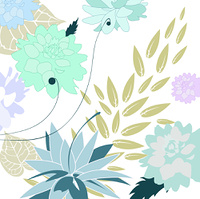 Vector Illustration of stylish floral background