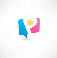 Abstract bubble icon  based on the letter P