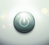Vector illustration of realistic round power button